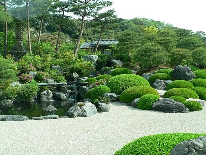 Японский сад - ландшафт сада в японском стиле