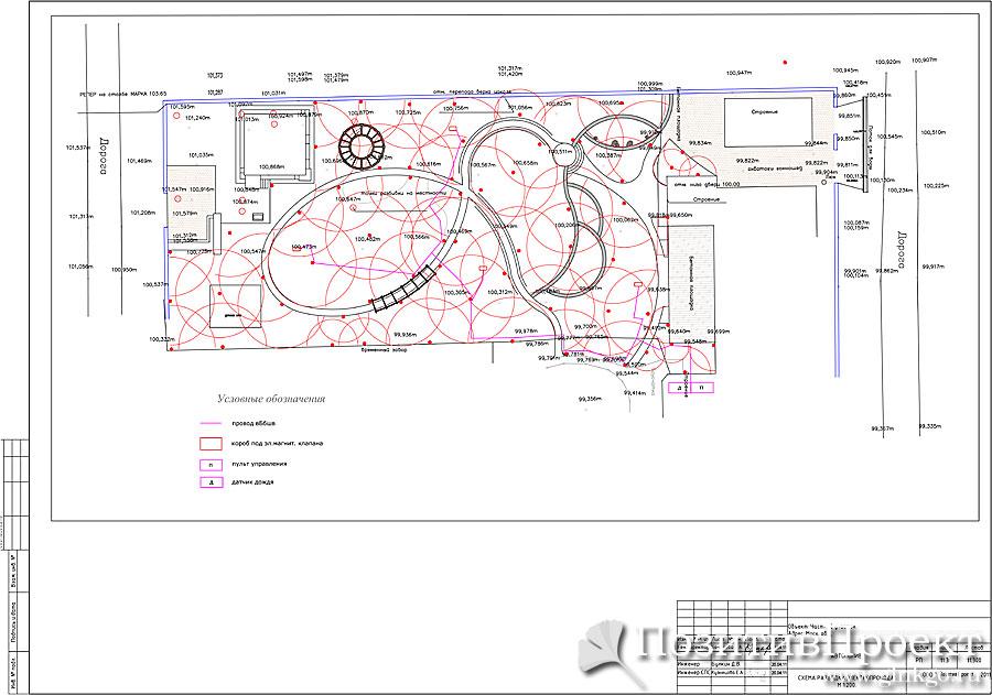 Схема разводки электропровода.