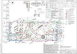 План вертикальной организации рельефа, отвод вод, дренаж